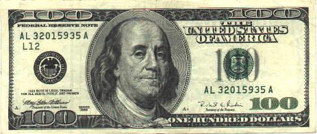 After 1996 100 Dollar Bill New