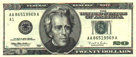 20 Dollar Bill New