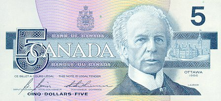 20 Canadian Dollar Note 5