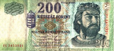 200 Hungarian Forint Note