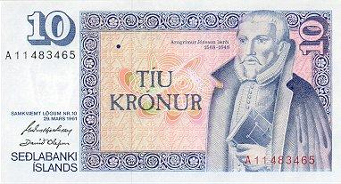 10 Icelandic Krona Note