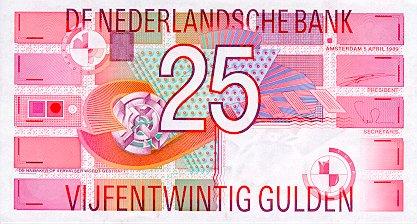 25 Dutch Guilders