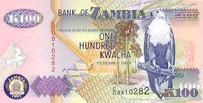 100 Zambian Kwacha
