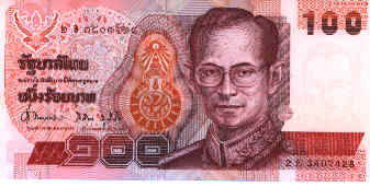 100 Thai Baht Note